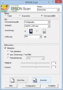 TWAIN Dialog Epson XP-305
